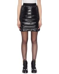 Moncler - Black Quilted Skirt - Lyst