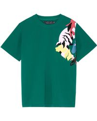 Angel Chen Tiger Graphic Print Unisex T-shirt - Green