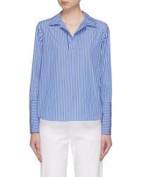 Kule 'the Wallis' Open Placket Shirt - Blue