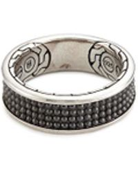 John Hardy - Rhodium Silver Dotted Jawan Ring - Lyst