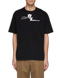 Kolor - 'new ' Japanese Slogan Print T-shirt - Lyst