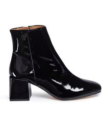 LOQ   'lazaro' Block Heel Patent Leather Ankle Boots   Lyst