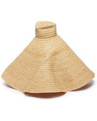 8ef8b18428e42 Gladys Tamez Millinery - Oversized Woven Straw Hat - Lyst
