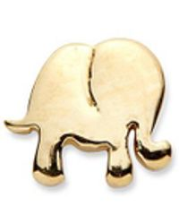Loquet London | 14k Yellow Gold Elephant Single Earring - Happiness | Lyst