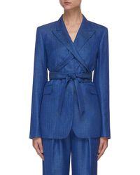 Gabriela Hearst 'nutter' Belted Blazer - Blue