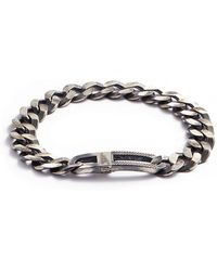 Tateossian - 'grumette' Silver Curb Chain Bracelet - Lyst