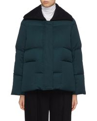 Ffixxed Studios 'wutong' Melton Collar Down Puffer Jacket - Green