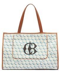 CONNOLLY Logo Geometric Graphic Print Canvas Beach Bag - Multicolor