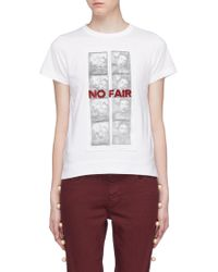 Tu Es Mon Tresor - No Fair T-shirt - Lyst