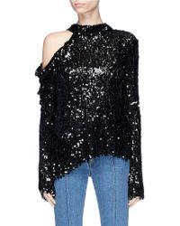 Magda Butrym Sequin-embellished Top - Black