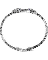 John Hardy 'legends Naga' Sapphire Double Dragon Sterling Silver Bracelet - Metallic