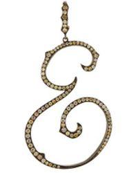 LC COLLECTION - Diamond 18k White Gold Letter Pendant – E - Lyst