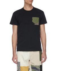 FDMTL - Sashiko Chest Pocket T-shirt - Lyst