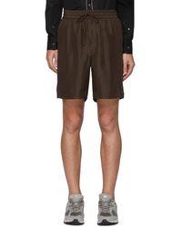 AURALEE Silk Drawstring Shorts - Multicolor