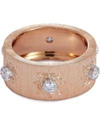 Buccellati 'macri Classica Eternelle' Diamond 18k Rose Gold Ring - Metallic