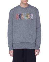 McQ - 'swallow' Slogan Embroidered Sweatshirt - Lyst