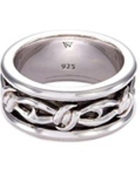 Stephen Webster - 'highwayman' Rhodium Silver Thorn Ring - Lyst