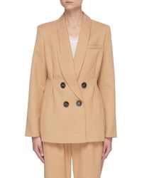 Acler Albany' Double Breast Blazer - Brown