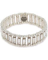 Philippe Audibert 'titia' Swarovski Crystal Bead Elastic Bracelet - Metallic