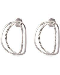 Delfina Delettrez - 'little Earclipse' Diamond 18k White Gold Earrings - Lyst