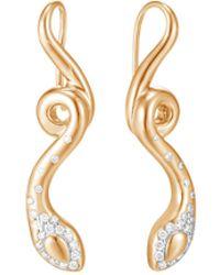 John Hardy - 'legends Cobra' Diamond 18k Yellow Gold Earrings - Lyst