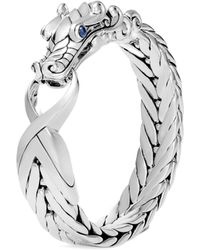 John Hardy - 'legends Naga' Sapphire Extra Large Silver Bracelet - Lyst