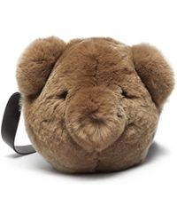 Yves Salomon Rabbit Fur Shoulder Bag - Brown