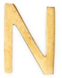 Loquet London - 18k Yellow Gold Letter Charm – N - Lyst