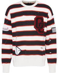 Opening Ceremony - White Stripe Varsity Sweater - Lyst