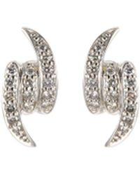 Stephen Webster 'forget Me Knot' Diamond 18k White Gold Stud Earrings - Metallic