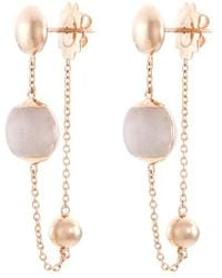 Roberto Coin - Jade 18k Rose Gold Beaded Chain Drop Earrings - Lyst