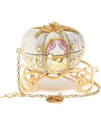 Judith Leiber Cinderella Pumpkin Crystal Pavé Clutch - Metallic