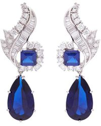 CZ by Kenneth Jay Lane - 'foliate' Cubic Zirconia Pear Drop Earrings - Lyst