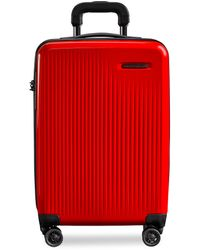 Briggs & Riley Sympatico Carry-on Expandable Spinner Suitcase – Red