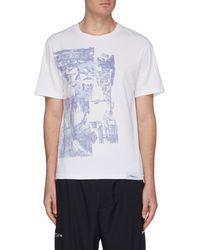 3.1 Phillip Lim Postcard Print T-shirt - Blue