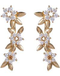 Tasaki 'fragrant' Diamond 18k Yellow Gold Ear Climbers - Metallic
