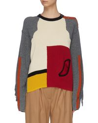 Toga Colourblock Paneled Slit Sleeve Sweater - Multicolor