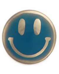 Loquet London   18k Yellow Gold Enamelled Smiley Face Charm   Lyst