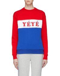 Être Cécile - 'yéyé Girls' Slogan Print Colourblock Sweatshirt - Lyst