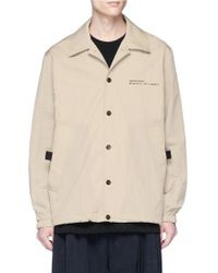 Song For The Mute - 'wonder Dad' Photographic Appliqué Twill Coach Jacket - Lyst