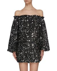 ROTATE BIRGER CHRISTENSEN Gloria Sequinned Mini Dress - Black