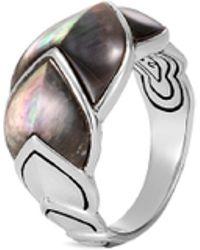 John Hardy - 'legends Naga' Mother Of Pearl Silver Medium Ring - Lyst