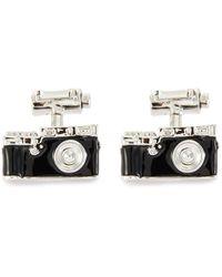 Babette Wasserman Camera And Film Cufflinks - Black