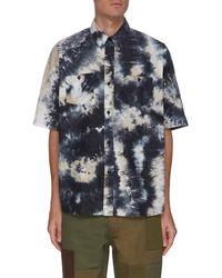 FDMTL Tie Dye Oversize Short Sleeve Shirt - Blue