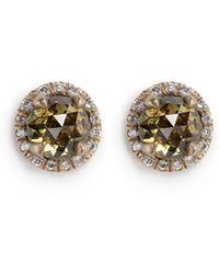 Monique Péan - 'atelier' Halo Diamond 18k Recycled Gold Stud Earrings - Lyst