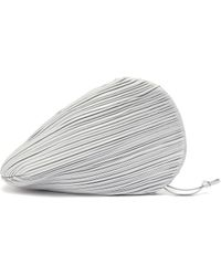 Neous 'pluto' Pleated Swirl Leather Clutch - Gray