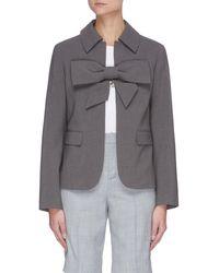 ShuShu/Tong Bow Detail Jacket - Gray