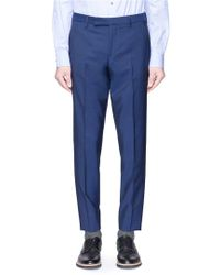 Paul Smith - Wool-mohair Cropped Trousers - Lyst