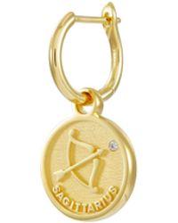 HEFANG 'sagittarius' Detachable Drop Swarovski Zirconia Silver Single Earrings - Metallic