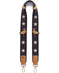 Venna - Cubic Zirconia Star Flamingo Studded Guitar Strap - Lyst